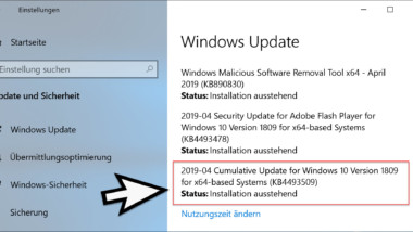 Download Update KB4493509 für Windows 10 Version 1809 Build 17763.437