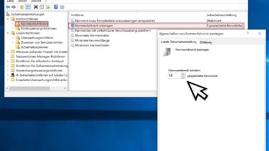Kennwortchronik unter Windows aktivieren – Verwendung immer wieder gleicher Kennwörter verhindern