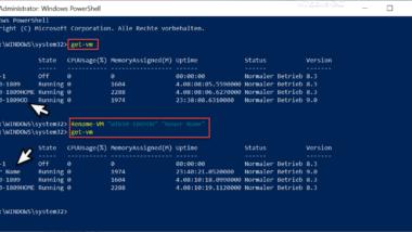VM umbenennen im Hyper-V Manager oder per PowerShell