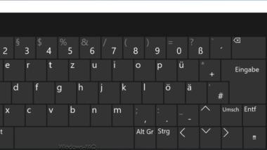 Bildschirmtastatur deaktivieren bei Windows 10