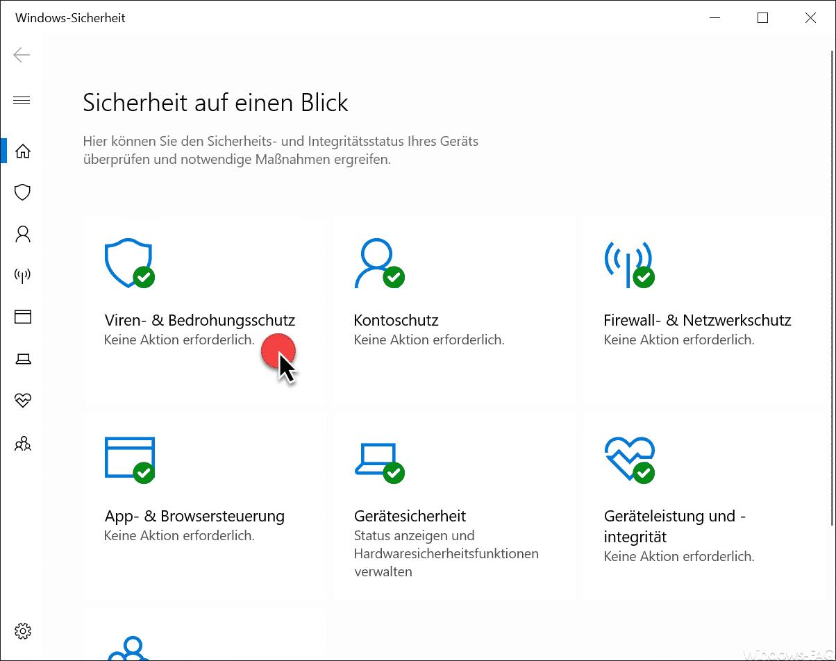 Windows-Sicherheit Viren- und Bedrohungsschutz