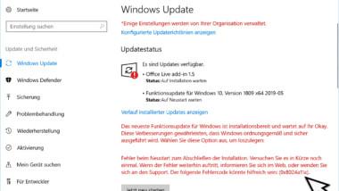 0x8024a11a Fehlercode beim Windows Update