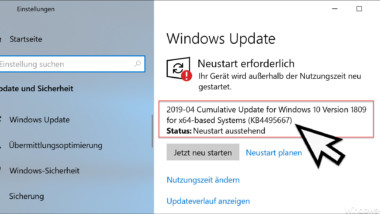KB4495667 Update für Windows 10 Version 1809 erschienen (Build 17763.475)