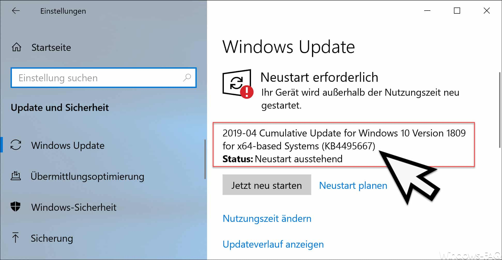 KB4495667 Update für Windows 10 Version 1809 erschienen