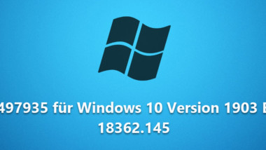 Download KB4497935 für Windows 10 Version 1903 Build 18362.145