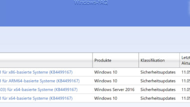 KB4499167 Update für Windows 10 Version 1803 erschienen (17134.765)