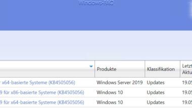 Update KB4505056 für Windows 10 1809 und KB4505064 für 1803 erschienen