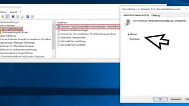 Windows Kennwort muss bestimmte Kennwortrichtlinien erfüllen – Sicherheit erhöhen