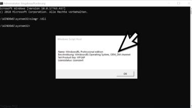Herausfinden welche Windows 10 Lizenz installiert ist (OEM, Retail oder Volumen-Lizenz)