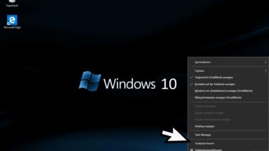 Taskleiste verschieben bei Windows 10