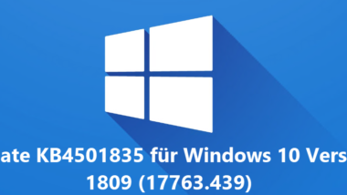 Update KB4501835 Download für Windows 10 Version 1809 (17763.439)