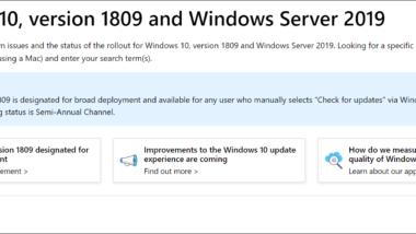 Microsoft Webseite informiert über bekannte Fehler von Windows 7, 8.1 und 10