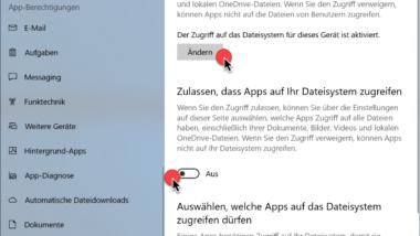 Zugriff auf das Dateisystem verhindern bei Windows 10 Apps