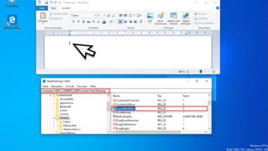 Cursor Blinkrate bzw. Blinkgeschwindigkeit unter Windows verändern