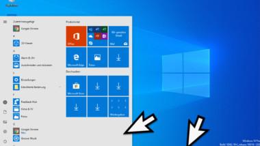 Heller Modus bei Windows 10 (helles Startmenü und Taskleiste)
