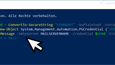 E-Mail per PowerShell versenden mit Authentifizierung am Exchange Server
