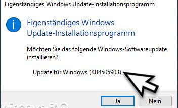 Download KB4505903 für Windows 10 Version 1903 (18362.267)