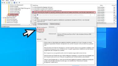 Windows nicht automatisch neu starten wenn ein Benutzer angemeldet ist
