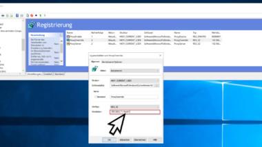 Proxyserver für lokale Adressen umgehen per Registry Key aktivieren