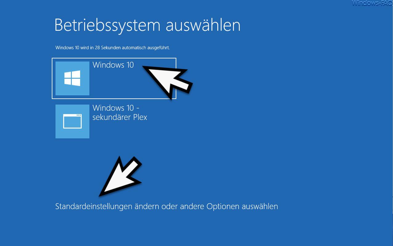 Start Betriebssystem auswählen