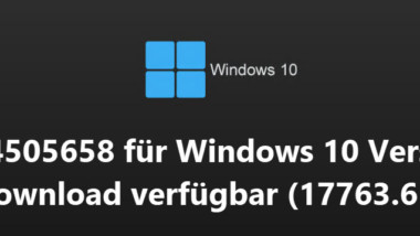 Update KB4505658 für Windows 10 Version 1809 als Download verfügbar (17763.652)