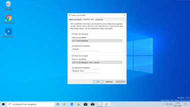 Mehrere Zeitzonen bei der Windows 10 Uhrzeit Anzeige einstellen