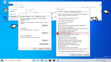 Windows Fensterschatten aktivieren bzw. deaktivieren