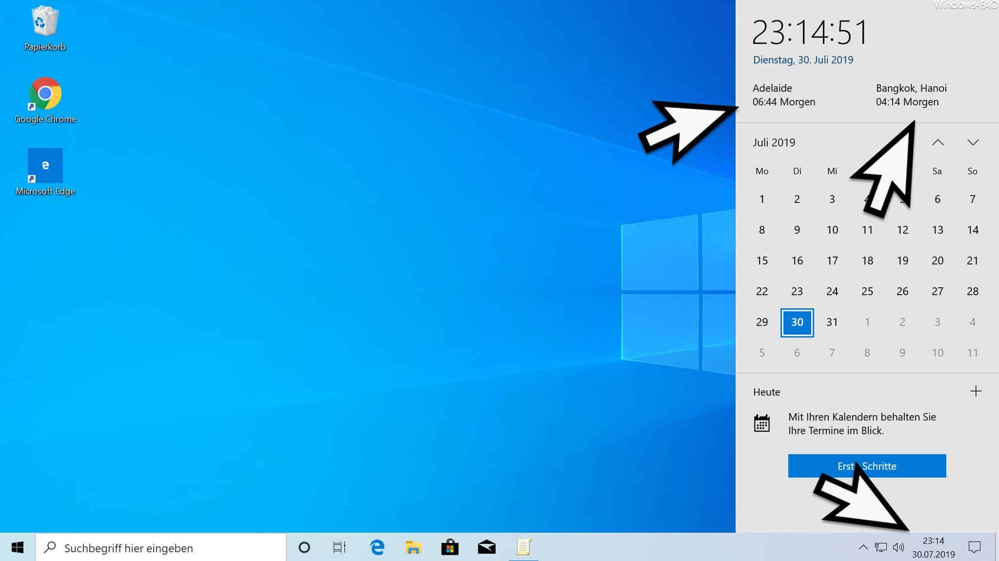 Windows Uhr mehrere Zeitzonen anzeigen