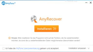 Wiederherstellung verlorener oder formatierter Partitionen mit AnyRecover