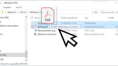 Versehentlich gelöschte oder verschobene Dateien im Explorer einfach wiederherstellen