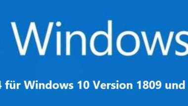 Download KB4512534 für Windows 10 Version 1809 und Windows Server 2019