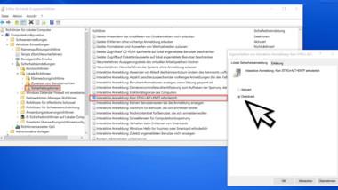 Sichere Windows Anmeldung per STRG + ALT + ENTF bei Windows per GPO erzwingen