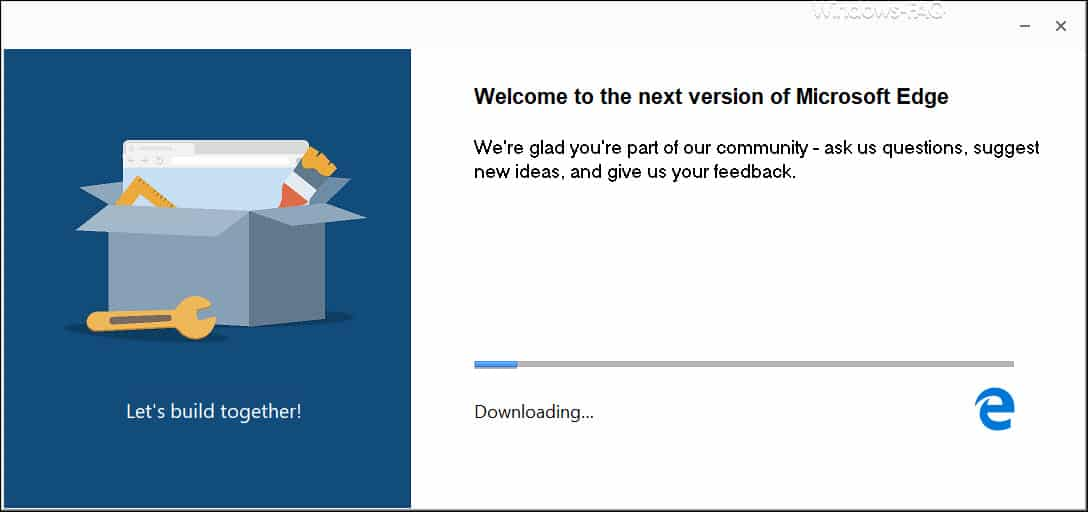 Microsoft Edge Chromium Beta Downloading