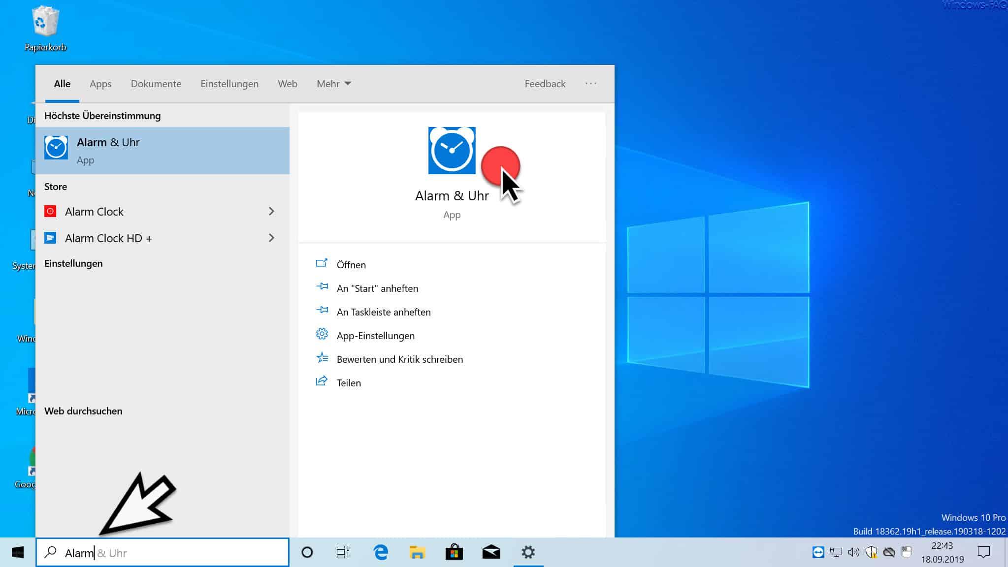 Alarm & Uhr Windows 10