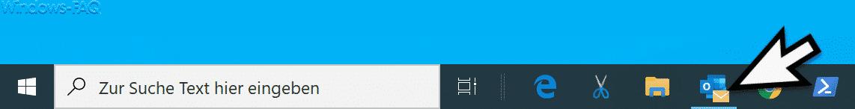 Badges aktiviert in Windows 10 Taskleiste
