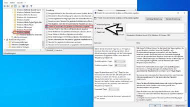 Windows 10 Updates und Funktionsupdates zurückstellen per GPO