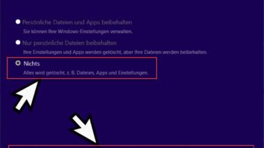 """""""Windows möglicherweise in einem nicht unterstützten Verzeichnis installiert"""" – Fehlermeldung beim Windows Upgrade"""