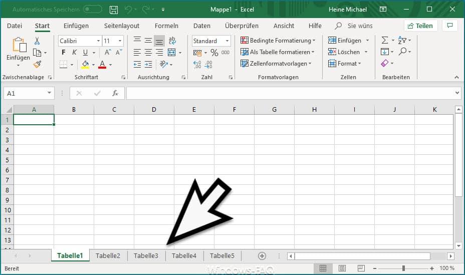 Mehr Arbeitsblätter im Excel öffnen