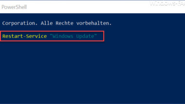 Windows Dienst neu starten per PowerShell