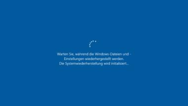 Windows 10 auf gespeicherten Wiederherstellungspunkt zurücksetzen
