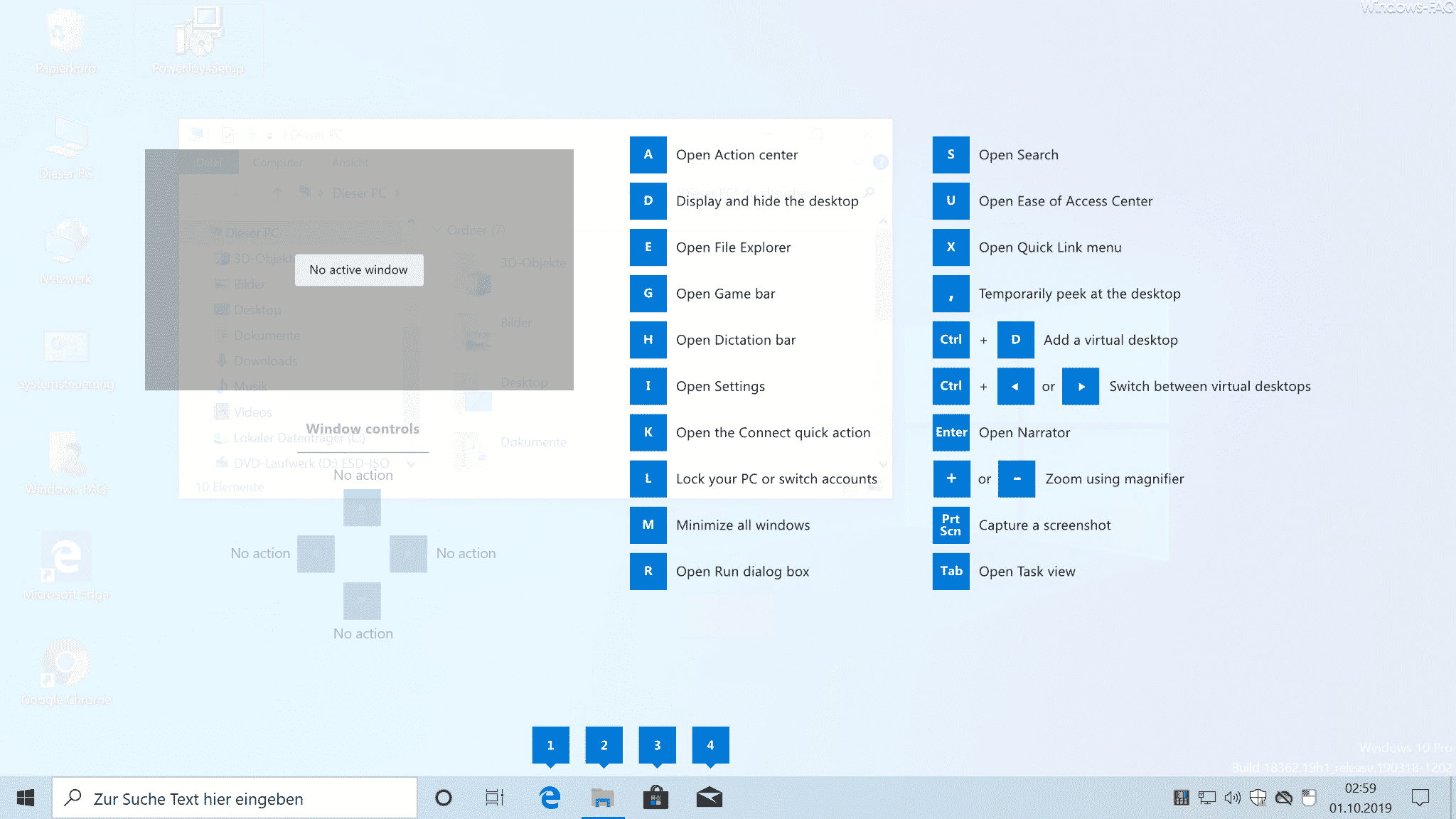 Windows Desktop Tastenkombinationen