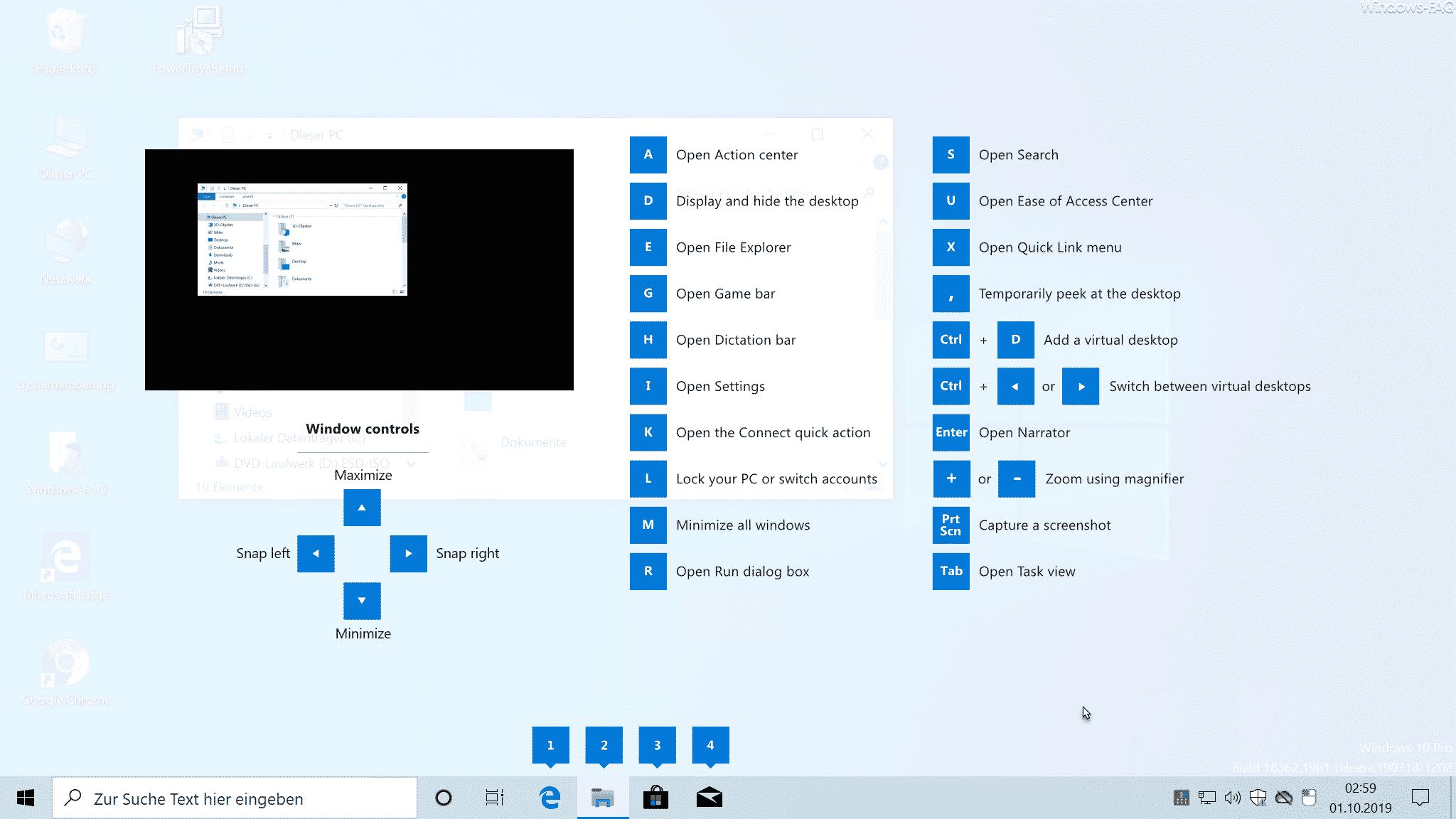 Windows Explorer Tastenkombinationen