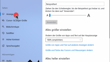 Animationen in Windows 10 ausschalten
