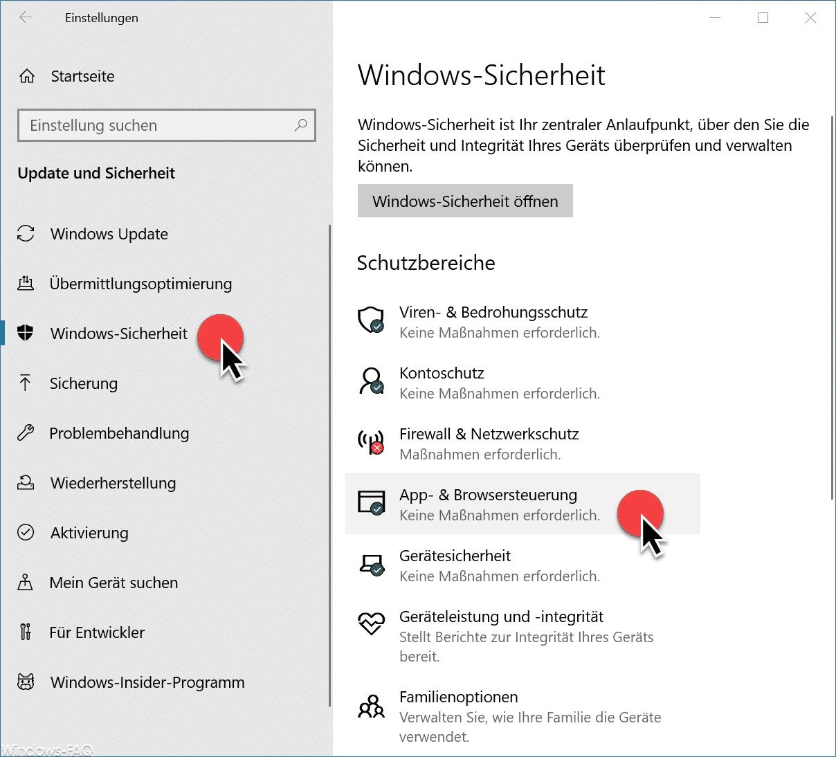 App- & Browsersteuerung