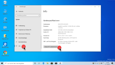 Windows 10 Computer umbenennen
