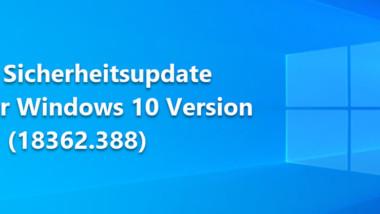 Download Sicherheitsupdate KB4524147 für Windows 10 Version 1903 (18362.388)