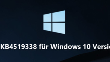 Download Update KB4519338 für Windows 10 Version 1809 17763.806