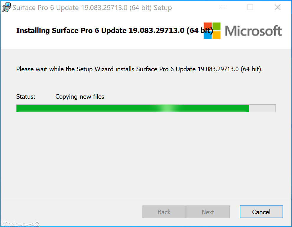 Installing Surface Pro 6 Firmware Update