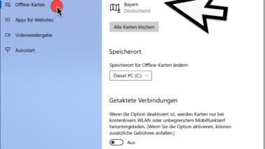 Offline Karten unter Windows 10 nutzen