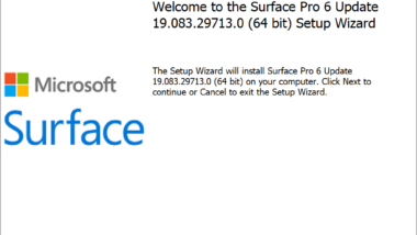 Download und Installation von Microsoft Surface Firmware & Treiber Updates